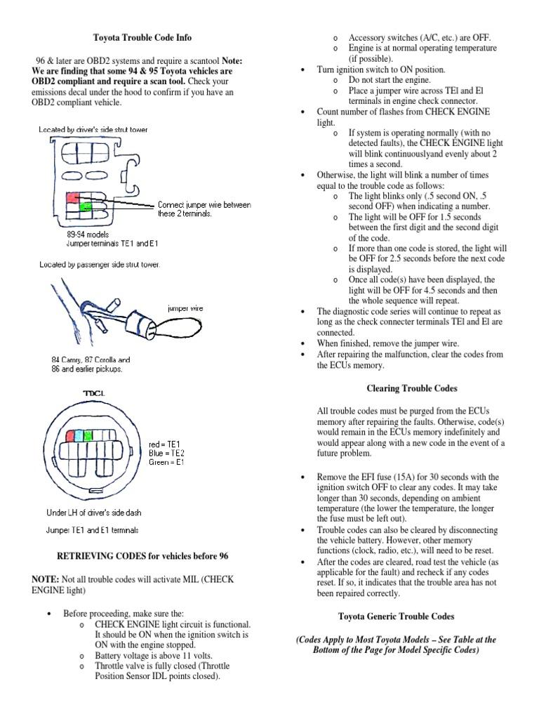 Toyota Corolla Repair Manual: Terminals of ecu