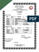 Class Program Grade 6