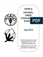 World Apparel Fiber Consumption (FAO, 2013)