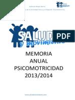 Memoria Anual Psicomotricidad 2013-2014 .Gabriela.