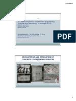 Development & Application of Concrete Expanded Plysterene Sandwiched Blocks