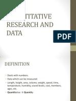 Quantitative Research and Data