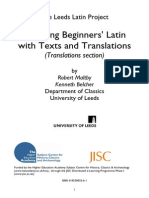 Teaching Beginners Latin With Text and Translations 3-Translations