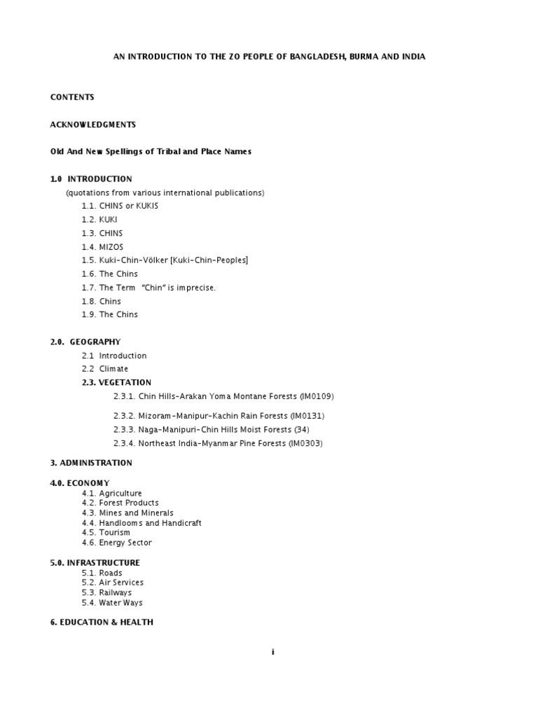 A Brief Note of Zopeoples Burmaindiabangladesh | Nature