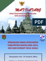 Kebijakan Dinkes Kab. Mgl Th 2014, Jkn Dan Konsep Desa Siaga