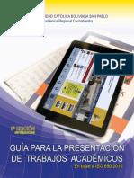 Guía Para La Presentación de Trabajos Académicos UCB-2013