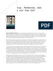 M.K. Jessup, Paranoia, And the Case for the UFO