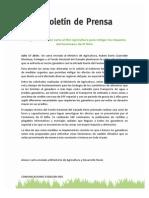 Boletín carta MinAgro Fenómeno del Niño