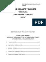 Informe de Campo y Gabinete