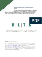 Der EuGH Weist Google in Die Schranken - BLTS Rechtsanwälte in Regensburg Zeigen Auf, Wie
