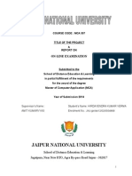 Online Examination Synopsis