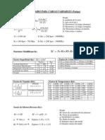 Formulario Para Cargas Variables (Fatiga)