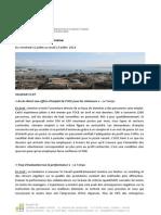 Revue de Presse Du 11.07.14 Au 17.07.14