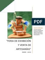 Bases Exposición Artesania