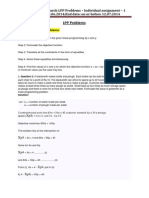 CU -LPP Problems Assignment