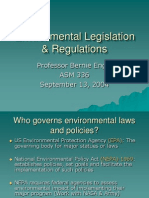 Environmental Legislation Regulations