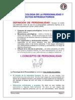 Tema 01. Psicología de La Personalidad y Aspectos Introductorios