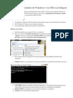 Crear Un Instalador de Windows 7 en USB Con Diskpart