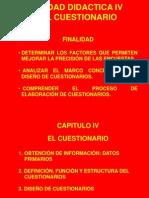 Unidad Didactica IV Cuestionario