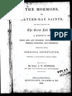Gunnison J. The Mormons (1852ed)