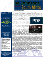 Johnson May-June 2014 Prayer Letter