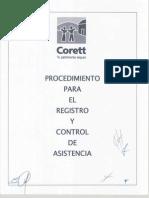 Procedimiento Para El Registro y Control de Asistencia