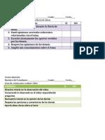 instrumentos de evaluacionpara blas diferentes actividades programadas para el proyecto entre pares
