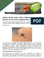 Saúde Alerta Sobre Febre Chikungunya Na PB Depois de 20 Casos Registrados No Brasil
