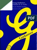 La Actualidad de Lo Bello - Hans-Georg Gadamer