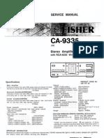 Fisher CA-9335 Service Manual