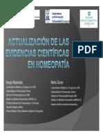 Actualización Evidencias Cientificas Homeopatia 2013