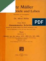 Textes Fritz Muller Werke Briefe Und Leben