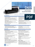 GE Multilin D60 specs