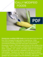 GENETICALLY MODIFEID FOODS