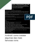 Guia Como Ressuscitar o Samsung Galaxy Tab P1000