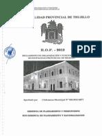 Rof de La Municipalidad Provincial de Trujillo