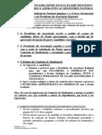 Exame Candidato (Kit Pastor)