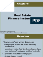 Real Estate Finance Instruments