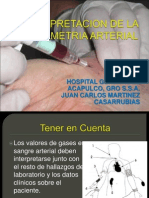 Interpretacion de La Gasometria Arterial2013