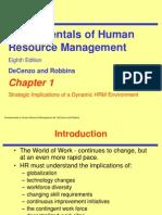 Fundamentals of HRM ch01