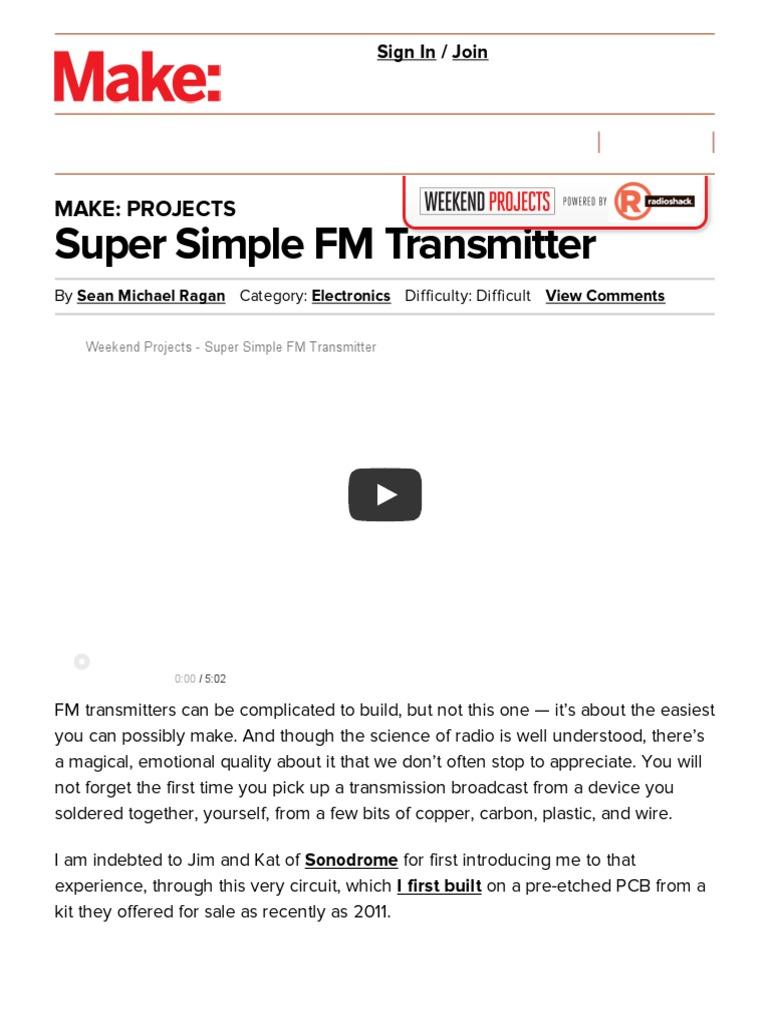 Super Simple Fm Transmitter Make Printed Circuit Board Hot Sell Pcbfm Receiver Buy