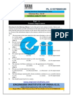 IES 2014 General Ability Test Solution Answer Key