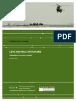 Libya and Mali Operations
