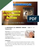 Licao 3 - Subsidio - A Iimportancia da Sabedoria Humilde.doc