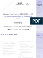 ProxmoxHA Grenoble Mathrice2014