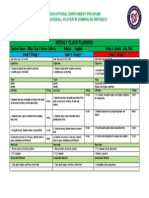 Washington Nationals. Weekly Planning from July 21st to July 25th 2014.docx