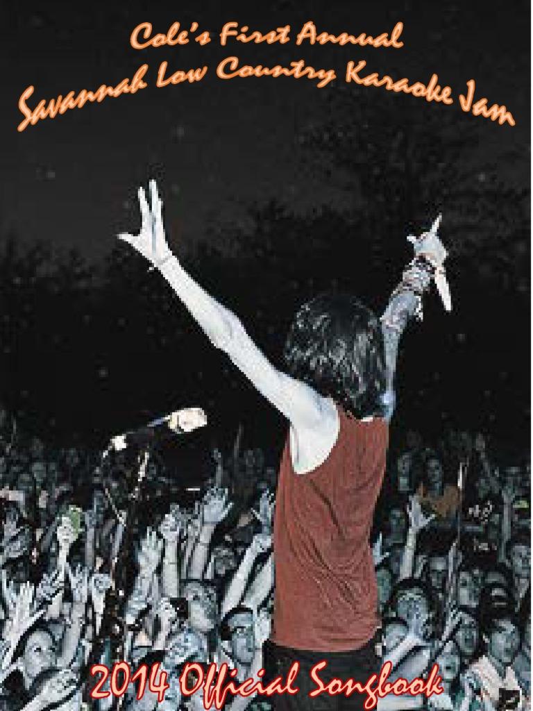 127afa4e529 Cole Karaoke Songbook 2014