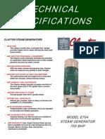 Especificacion Caldera 700 Bhp E-704