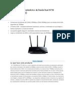 Router Gigabit Inalámbrico de Banda Dual N750