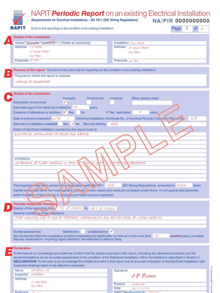 Amazing electrical installation certificate template pictures pretty electrical installation certificate template gallery alramifo Image collections